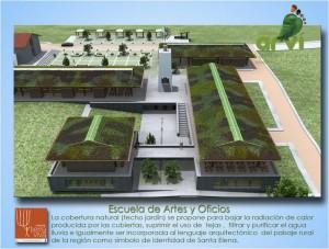 Vista aérea de la Escuela de Artes y Oficios de Mazo - ARVI